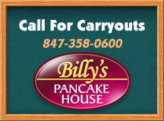 Call for carryouts 847-358-0600